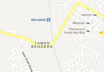 Mentakab Railway Station Location Map